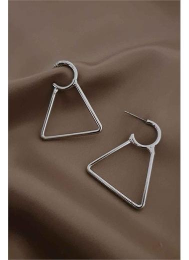 Bej takı Bijuteri Küpe Gümüş